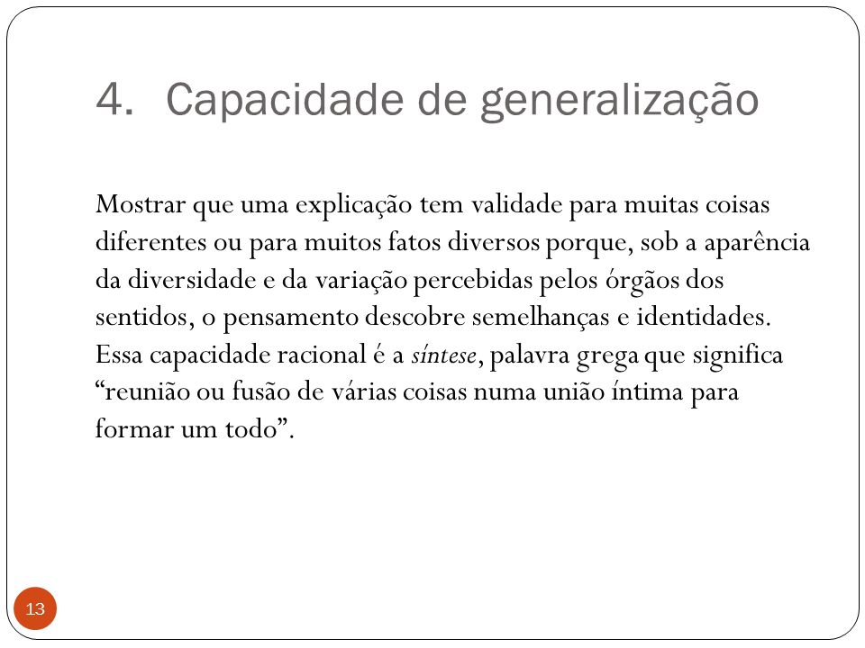 Capacidade de generalização