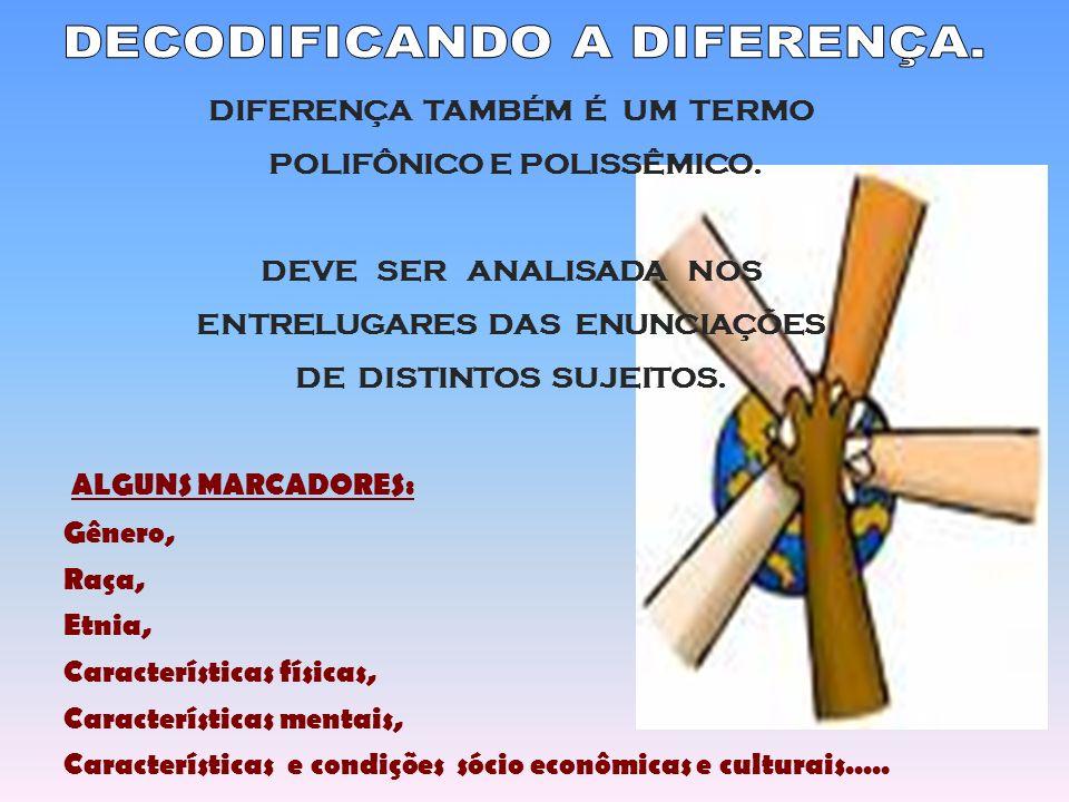 DECODIFICANDO A DIFERENÇA.