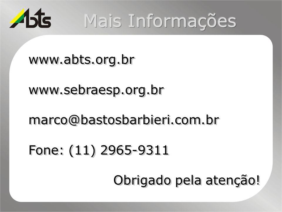 Mais Informações www.abts.org.br www.sebraesp.org.br