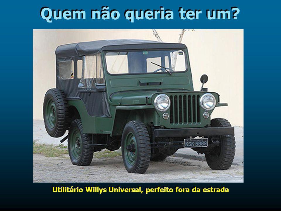 Utilitário Willys Universal, perfeito fora da estrada
