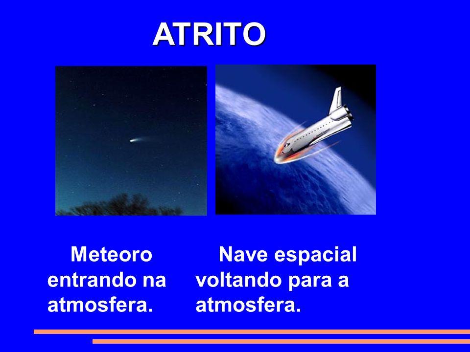 ATRITO Meteoro entrando na atmosfera.