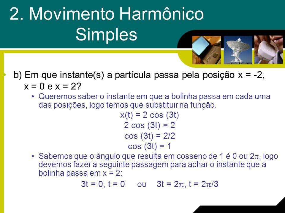 2. Movimento Harmônico Simples