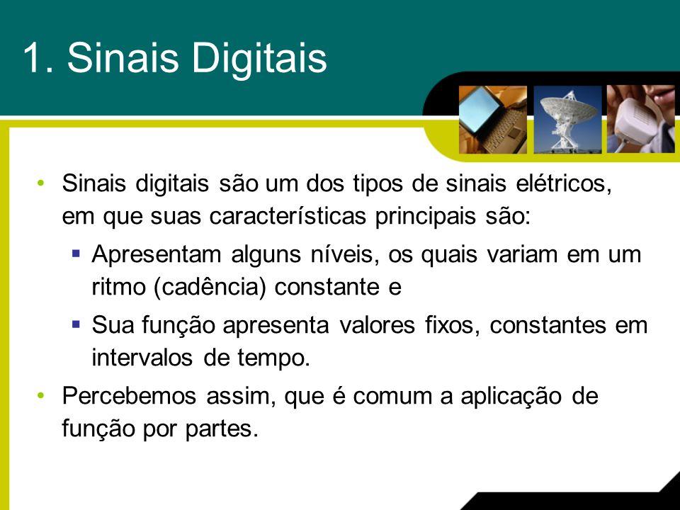 1. Sinais Digitais Sinais digitais são um dos tipos de sinais elétricos, em que suas características principais são:
