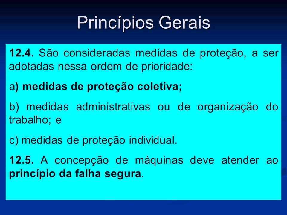 Princípios Gerais 12.4. São consideradas medidas de proteção, a ser adotadas nessa ordem de prioridade: