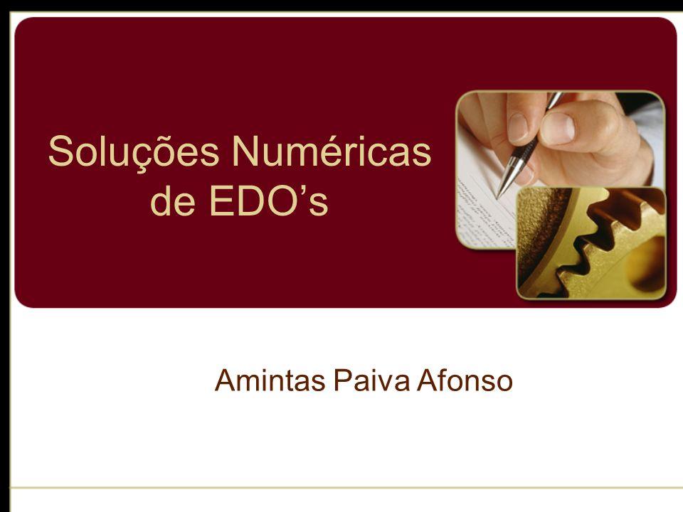 Soluções Numéricas de EDO's