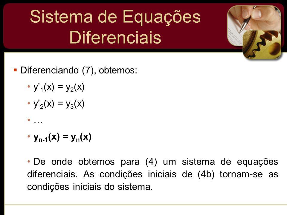 Sistema de Equações Diferenciais