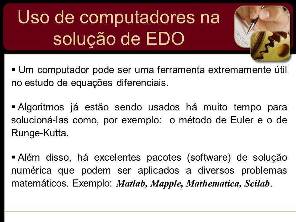 Uso de computadores na solução de EDO