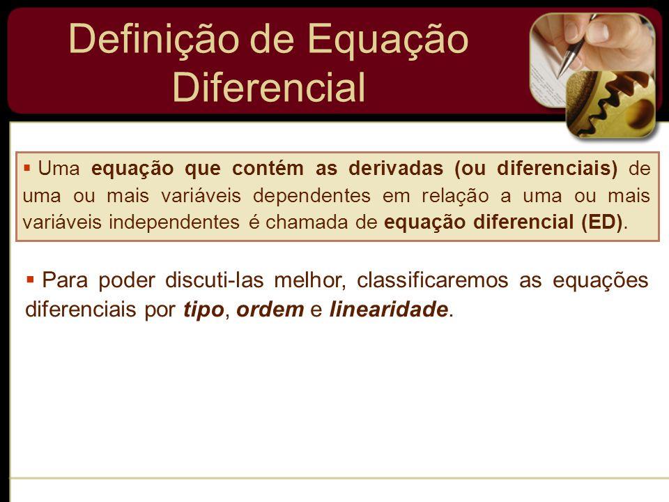 Definição de Equação Diferencial