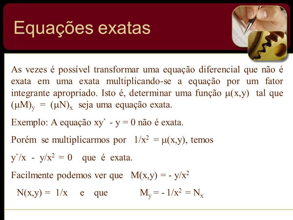 Equações exatas