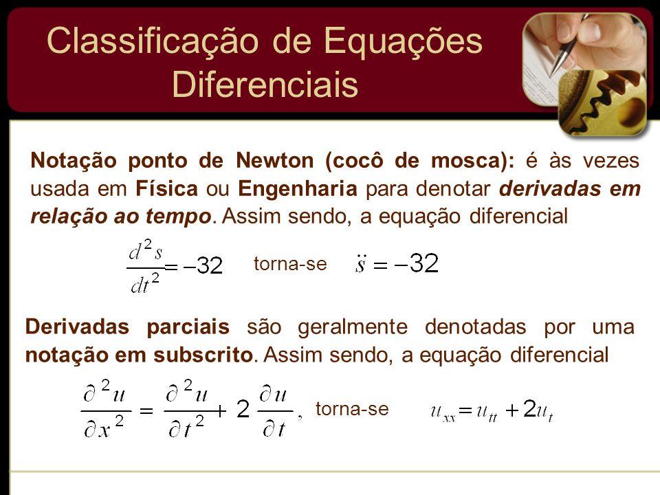 Classificação de Equações Diferenciais