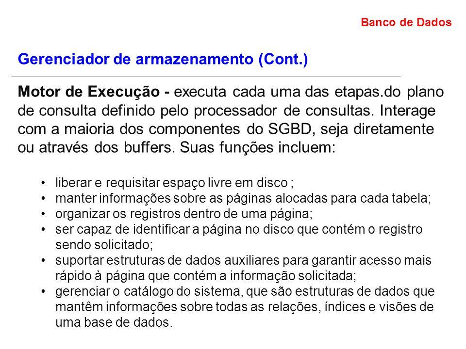 Gerenciador de armazenamento (Cont.)