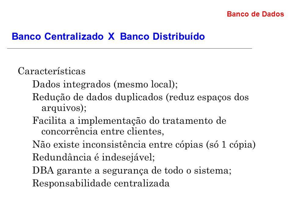 Banco Centralizado X Banco Distribuído