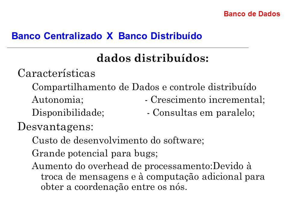 Os bancos de dados distribuídos: Características