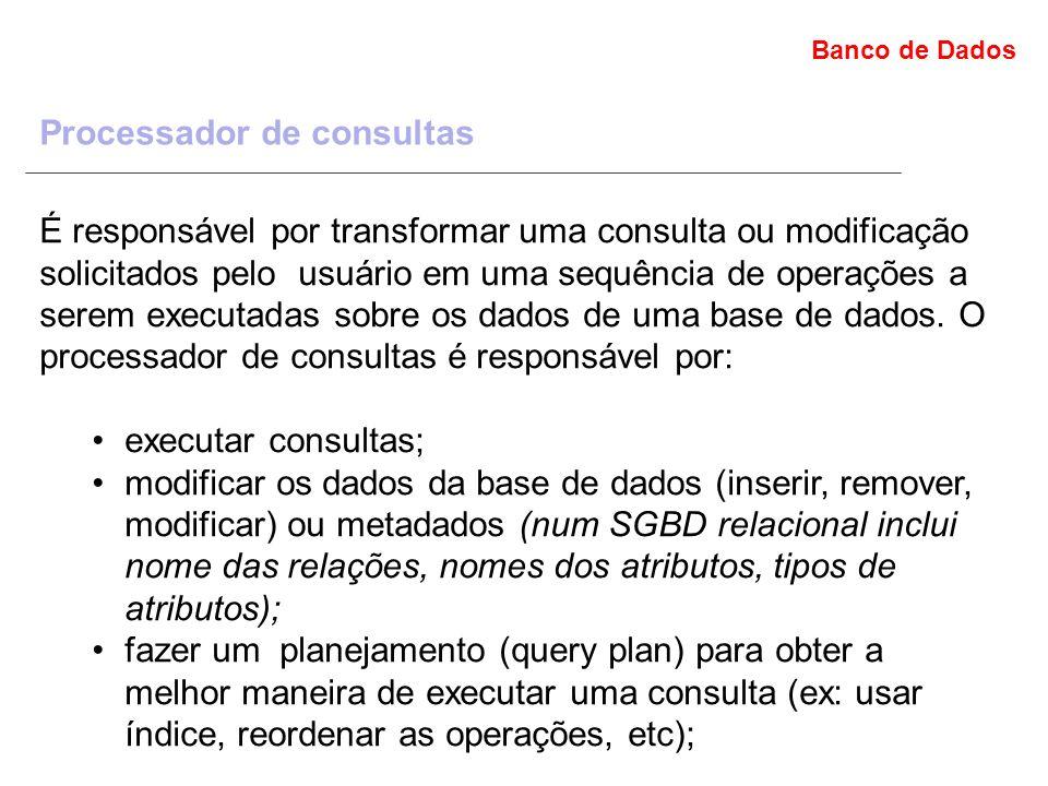 Processador de consultas
