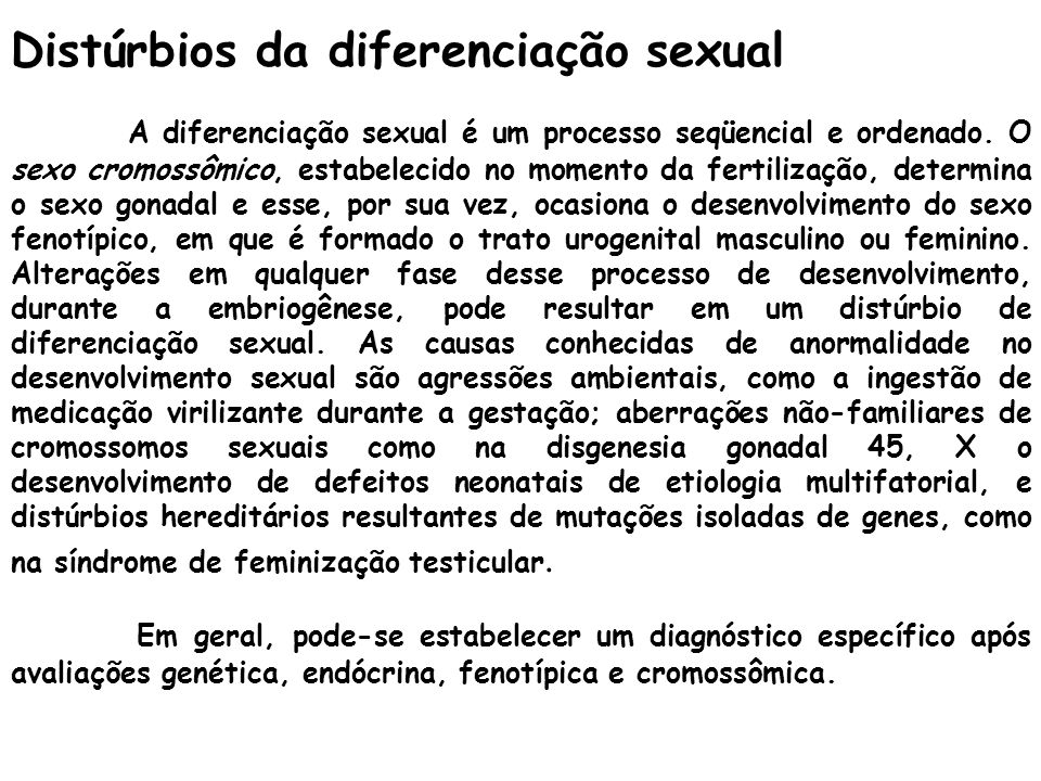 Distúrbios da diferenciação sexual