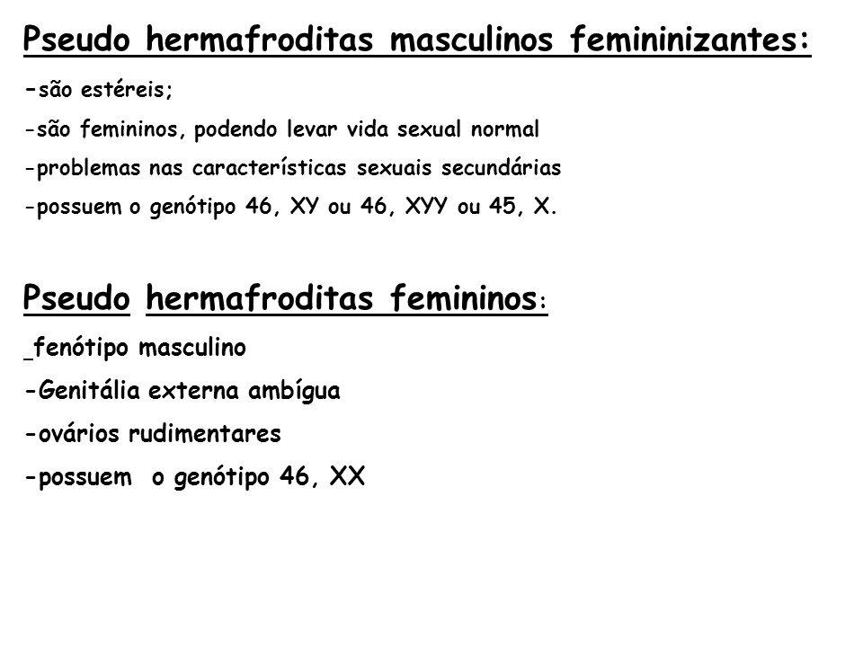 Pseudo hermafroditas masculinos femininizantes: