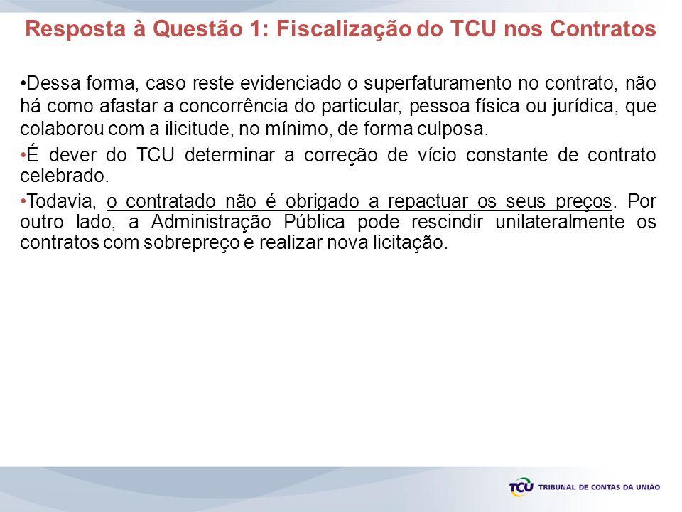 Resposta à Questão 1: Fiscalização do TCU nos Contratos
