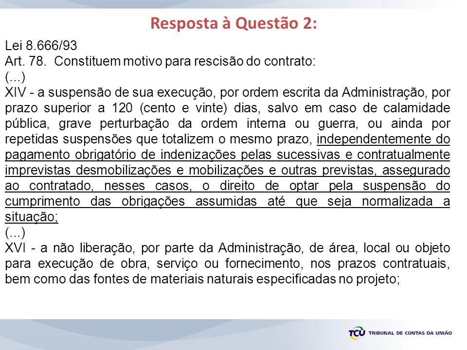 Resposta à Questão 2: Lei 8.666/93