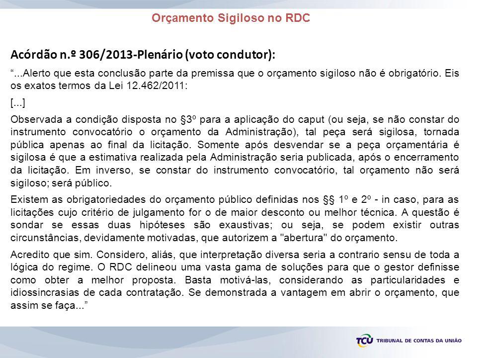 Orçamento Sigiloso no RDC