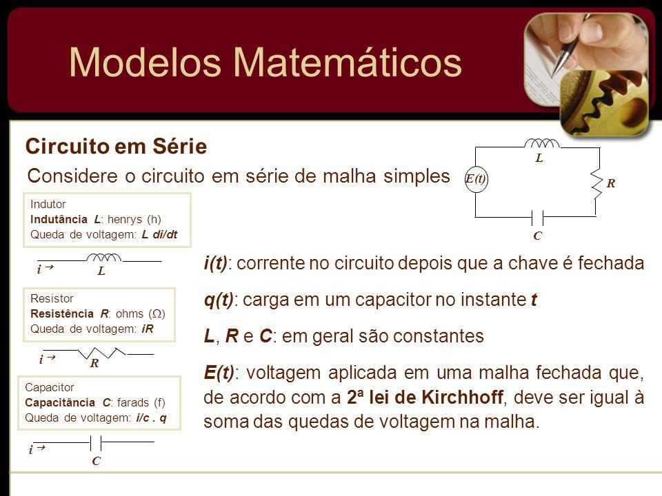 Modelos Matemáticos Circuito em Série