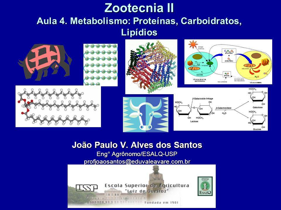 Zootecnia II Aula 4. Metabolismo: Proteínas, Carboidratos, Lipídios