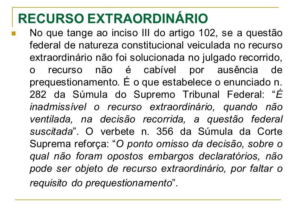 RECURSO EXTRAORDINÁRIO