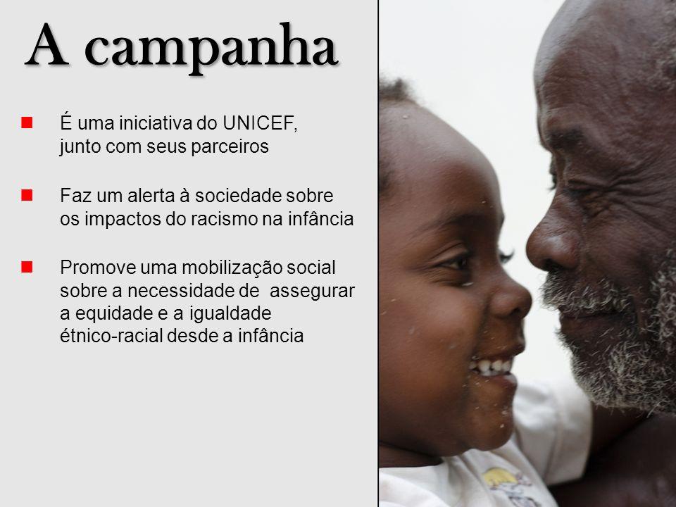 A campanha n É uma iniciativa do UNICEF, junto com seus parceiros