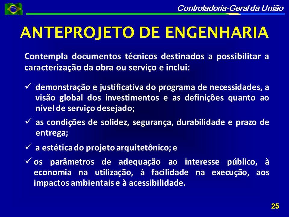 ANTEPROJETO DE ENGENHARIA