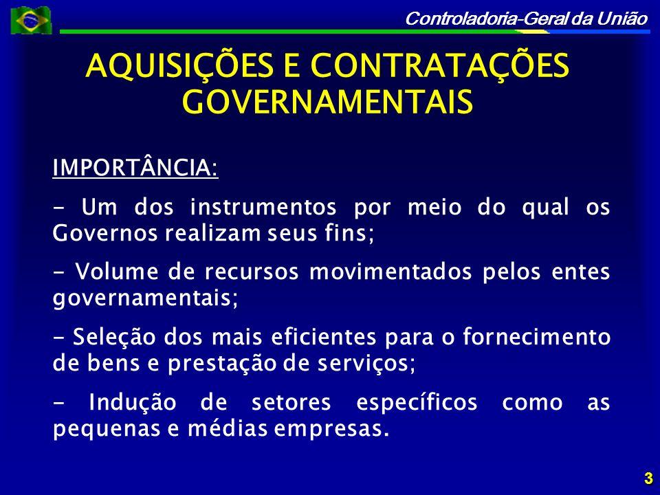 AQUISIÇÕES E CONTRATAÇÕES GOVERNAMENTAIS
