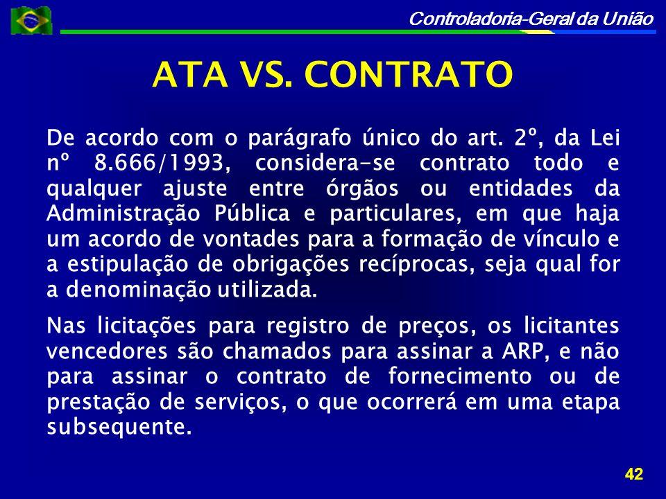 ATA VS. CONTRATO