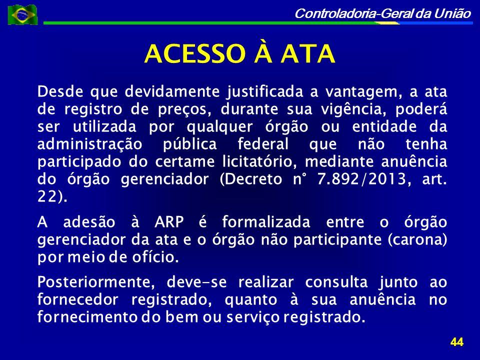 ACESSO À ATA