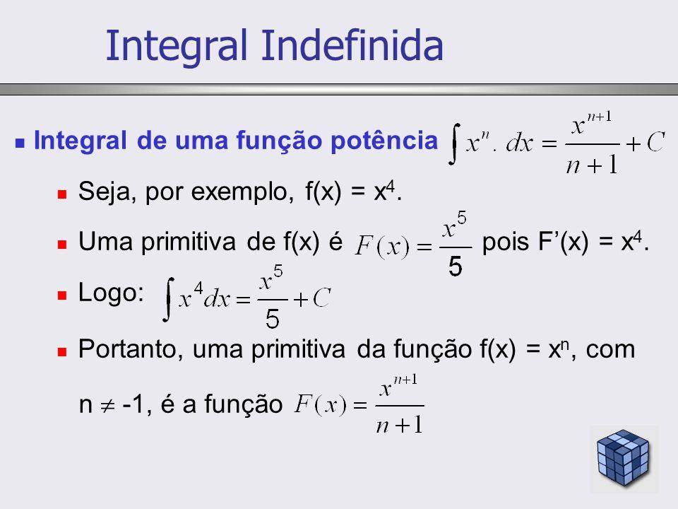 Integral Indefinida Integral de uma função potência