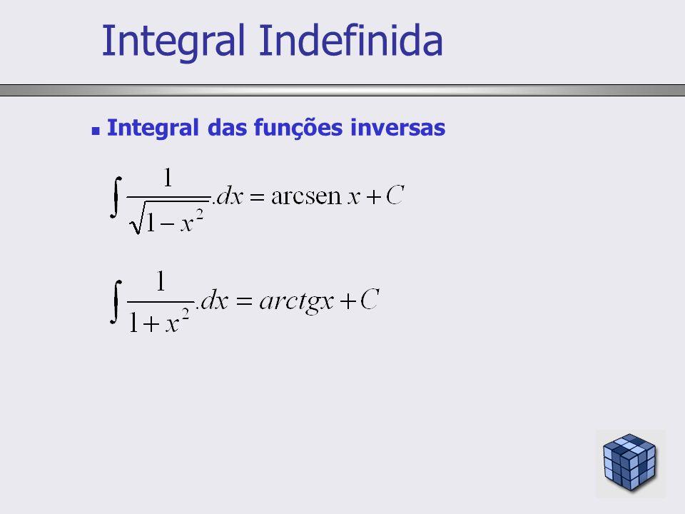 Integral Indefinida Integral das funções inversas