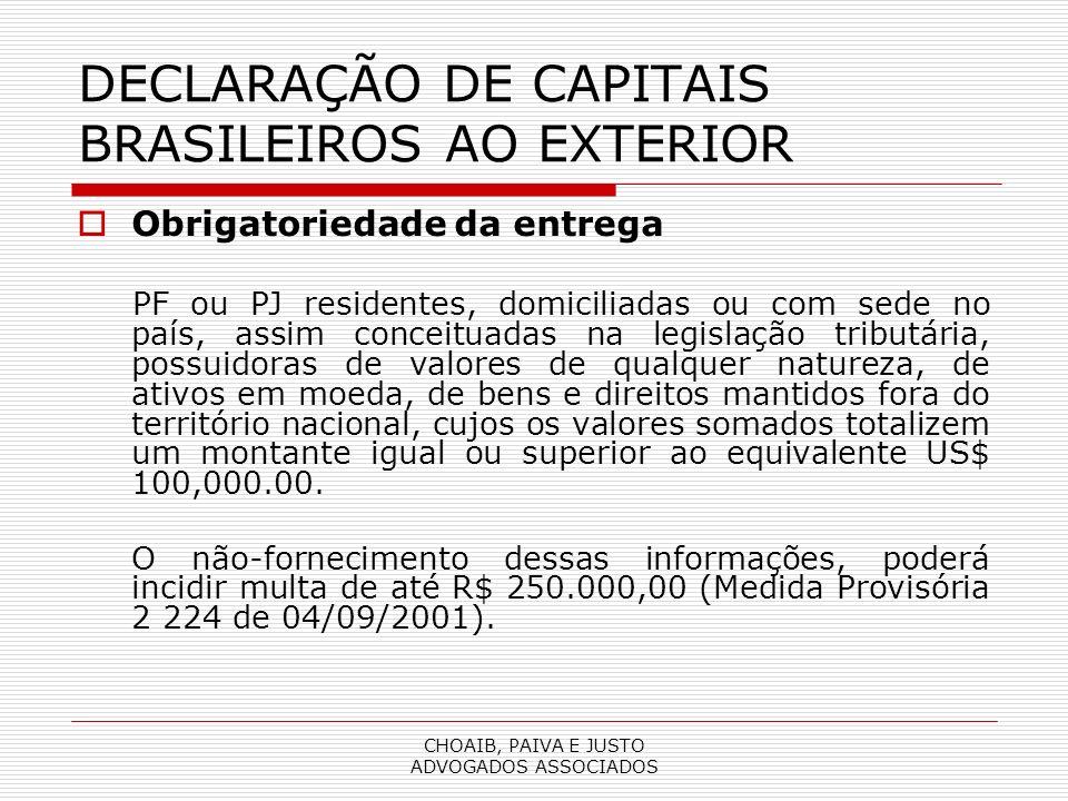 DECLARAÇÃO DE CAPITAIS BRASILEIROS AO EXTERIOR