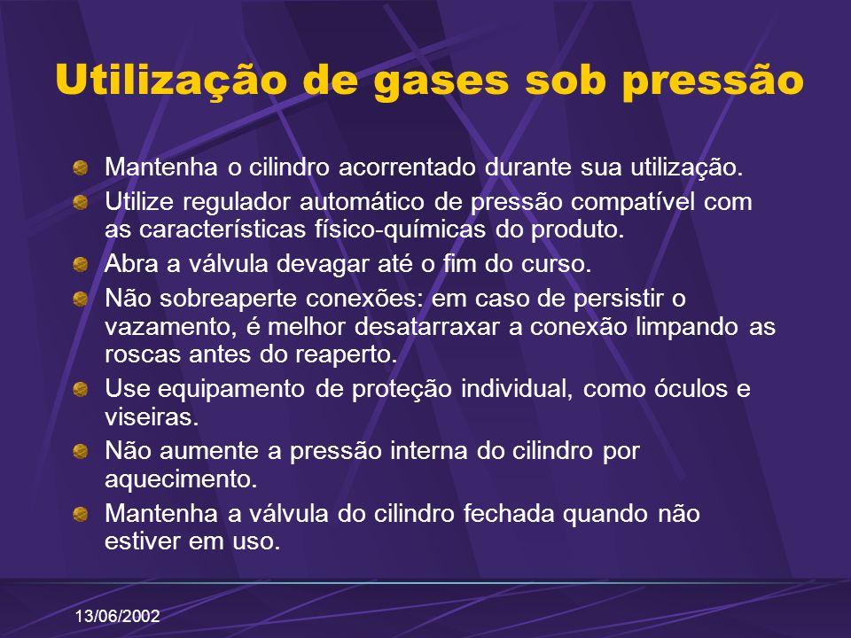 Utilização de gases sob pressão