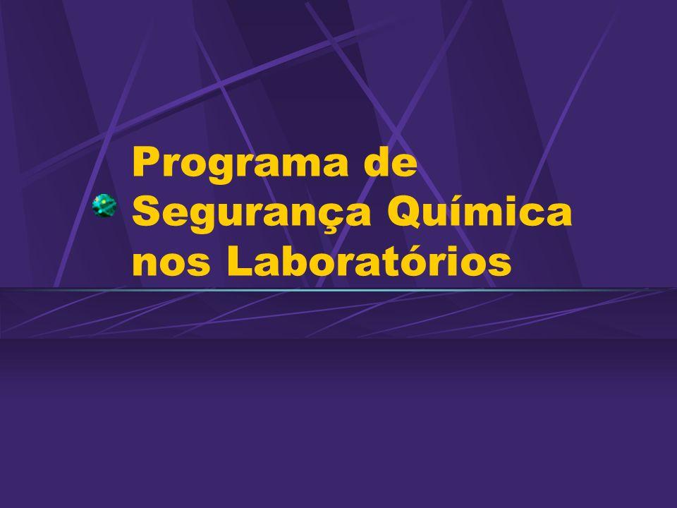 Programa de Segurança Química nos Laboratórios