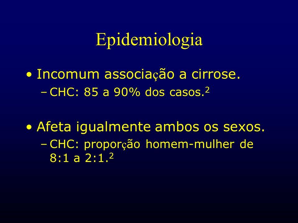 Epidemiologia Incomum associação a cirrose.