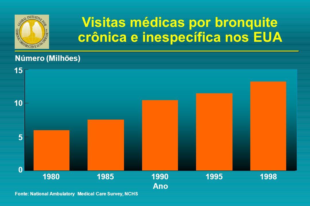 Visitas médicas por bronquite crônica e inespecífica nos EUA