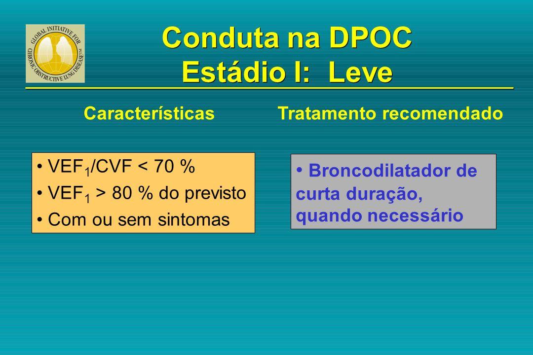 Conduta na DPOC Estádio I: Leve
