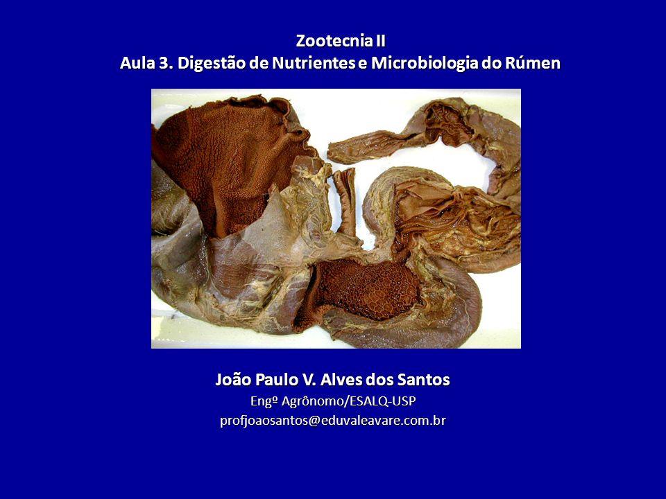 Zootecnia II Aula 3. Digestão de Nutrientes e Microbiologia do Rúmen