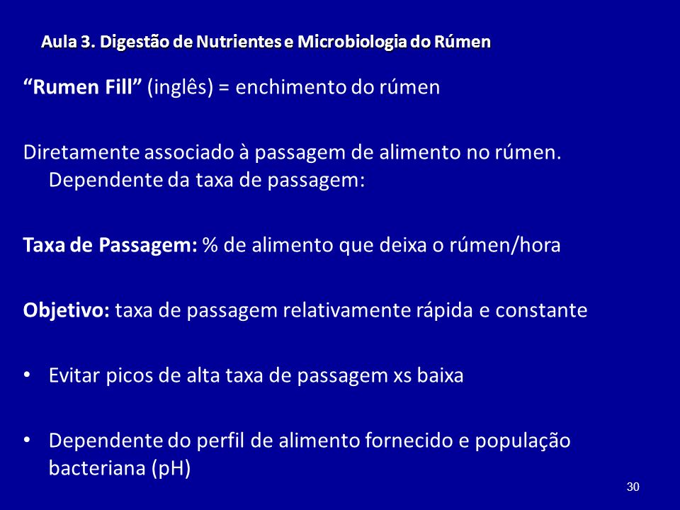 Aula 3. Digestão de Nutrientes e Microbiologia do Rúmen