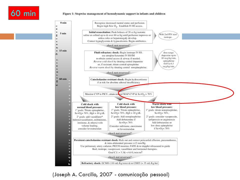 60 min (Joseph A. Carcillo, 2007 - comunicação pessoal) 24