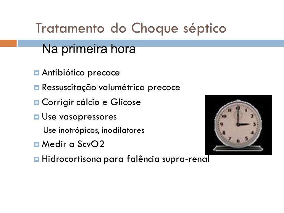 Tratamento do Choque séptico
