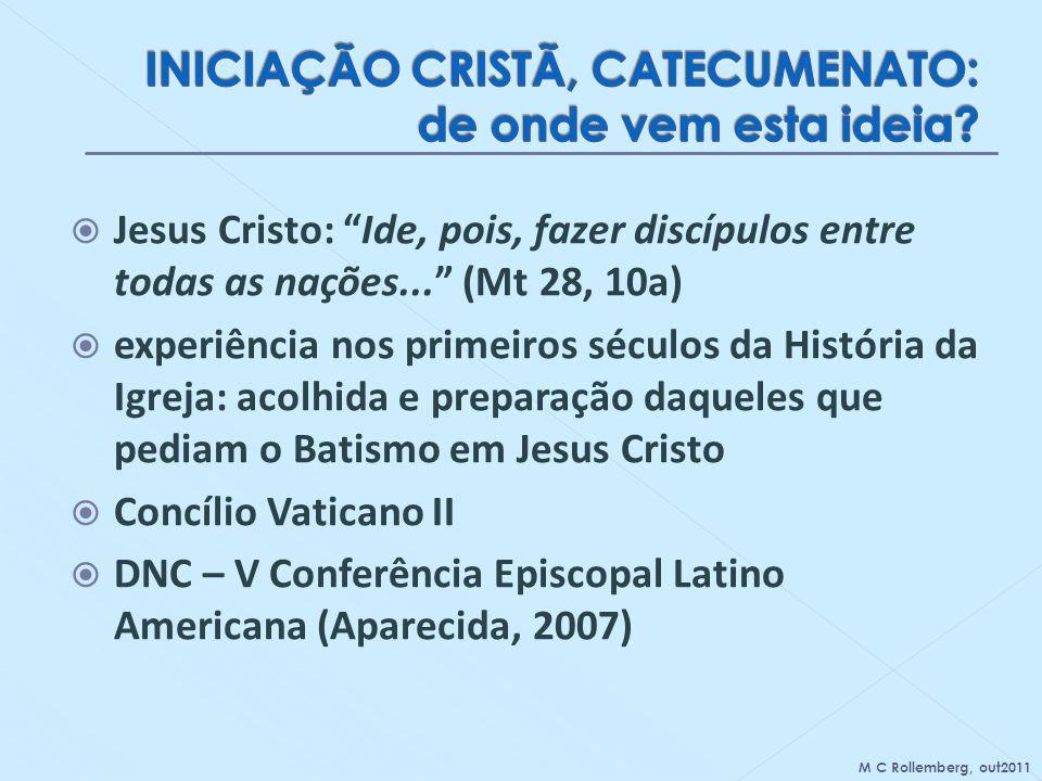 INICIAÇÃO CRISTÃ, CATECUMENATO: de onde vem esta ideia