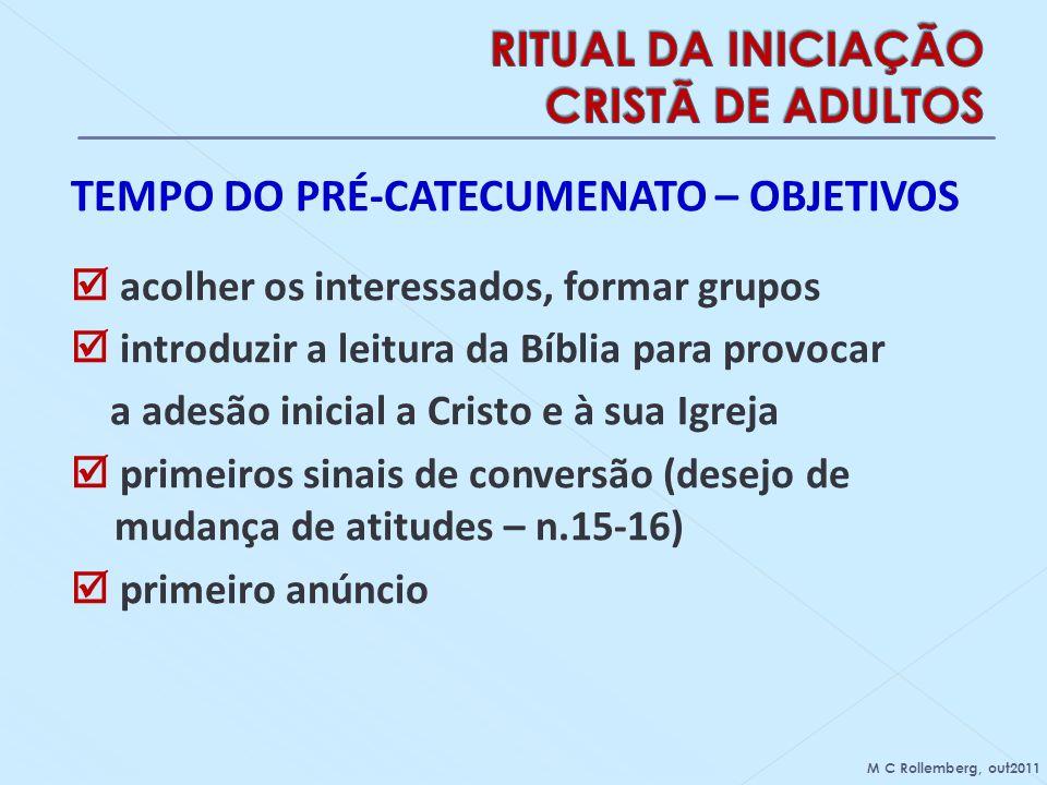 RITUAL DA INICIAÇÃO CRISTÃ DE ADULTOS