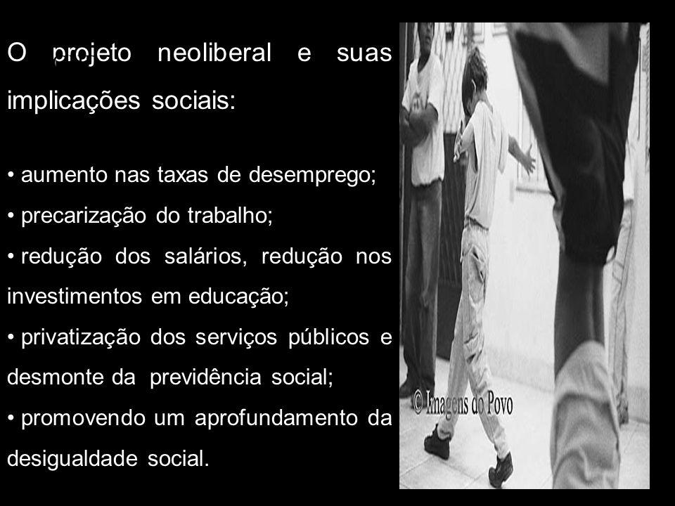 O projeto neoliberal e suas implicações sociais: