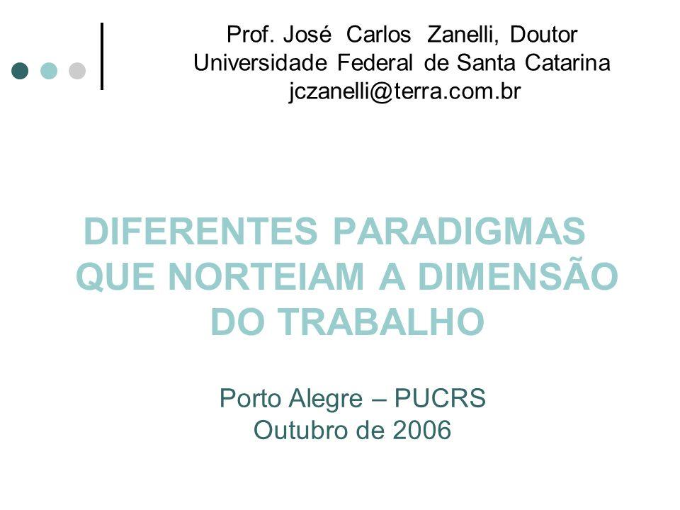 DIFERENTES PARADIGMAS QUE NORTEIAM A DIMENSÃO DO TRABALHO