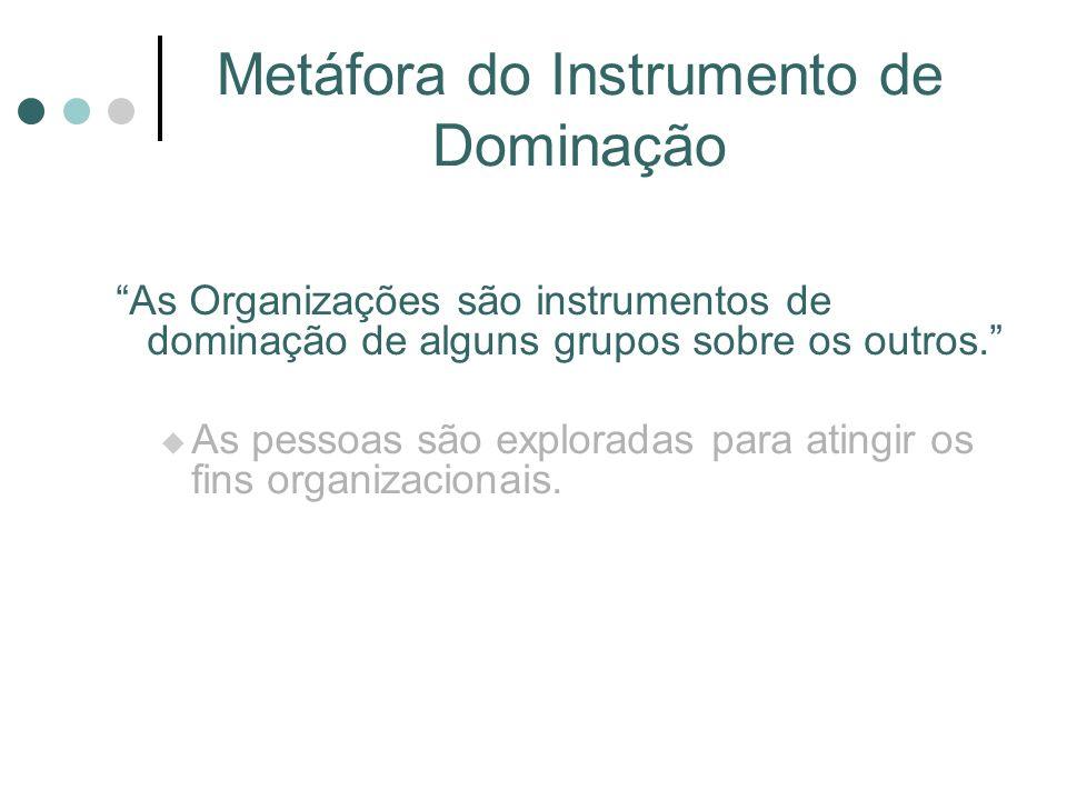Metáfora do Instrumento de Dominação