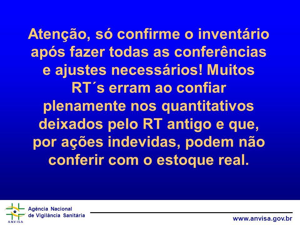 Atenção, só confirme o inventário após fazer todas as conferências e ajustes necessários.
