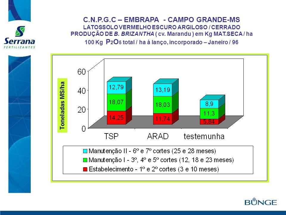 C.N.P.G.C – EMBRAPA - CAMPO GRANDE-MS
